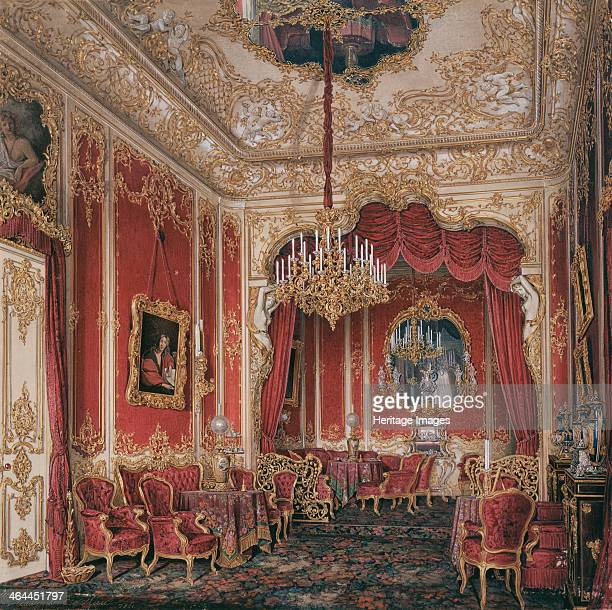 Interiors of the Winter Palace The Boudoir of Empress Maria Alexandrovna 1861 Found in the collection of the State Hermitage St Petersburg
