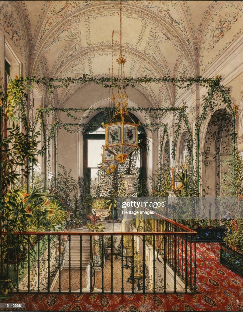 interiors of the winter palace the small winter garden in the