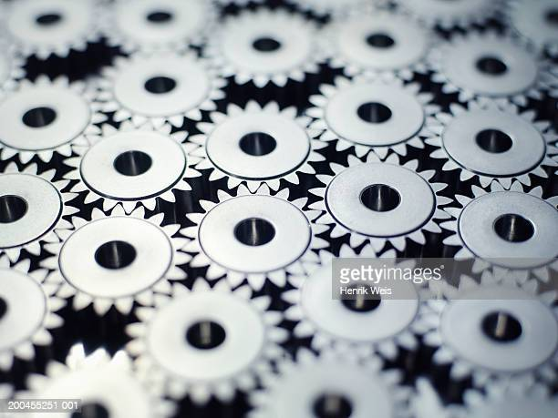 Interlocking cogs, full frame