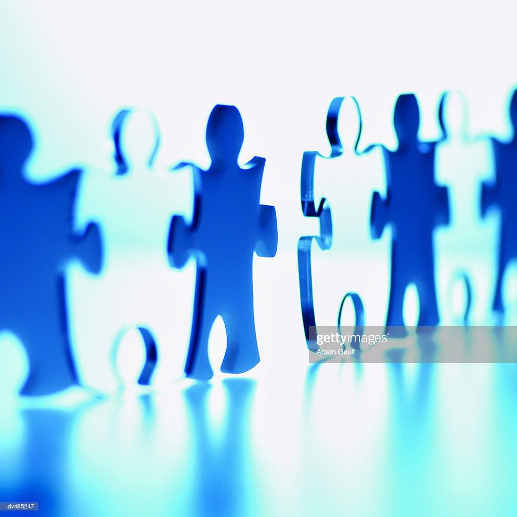 Interlocking Jigsaw Pieces : Stock Photo