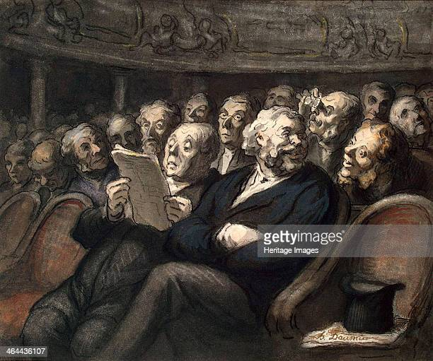 Intermission at the ComédieFrançaise 1858 Daumier Honoré Found in the collection of the State Hermitage St Petersburg