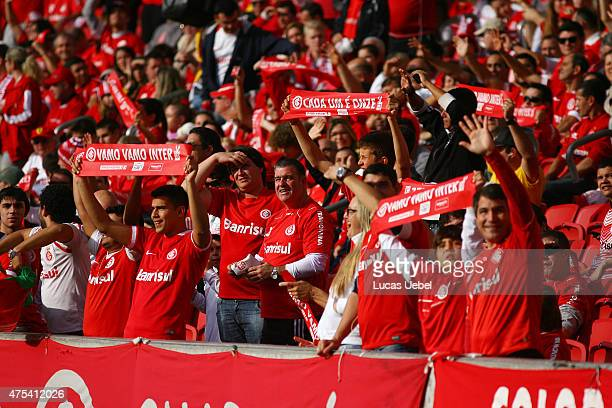 Internacional fans before the match between Internacional and Sao Paulo as part of Brasileirao Series A 2015 at Estadio BeiraRio on May 31 in Porto...