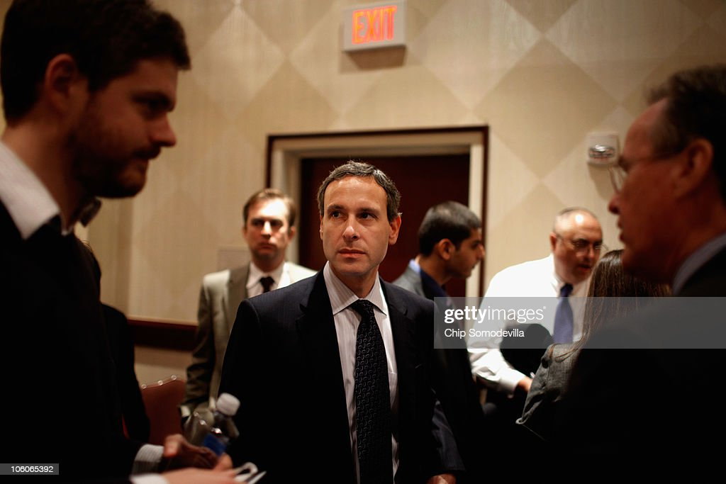 Internal Revenue Service Commissioner Douglas Shulman talks with reporters after addressing the American Institute of Certified Public Accountants'...