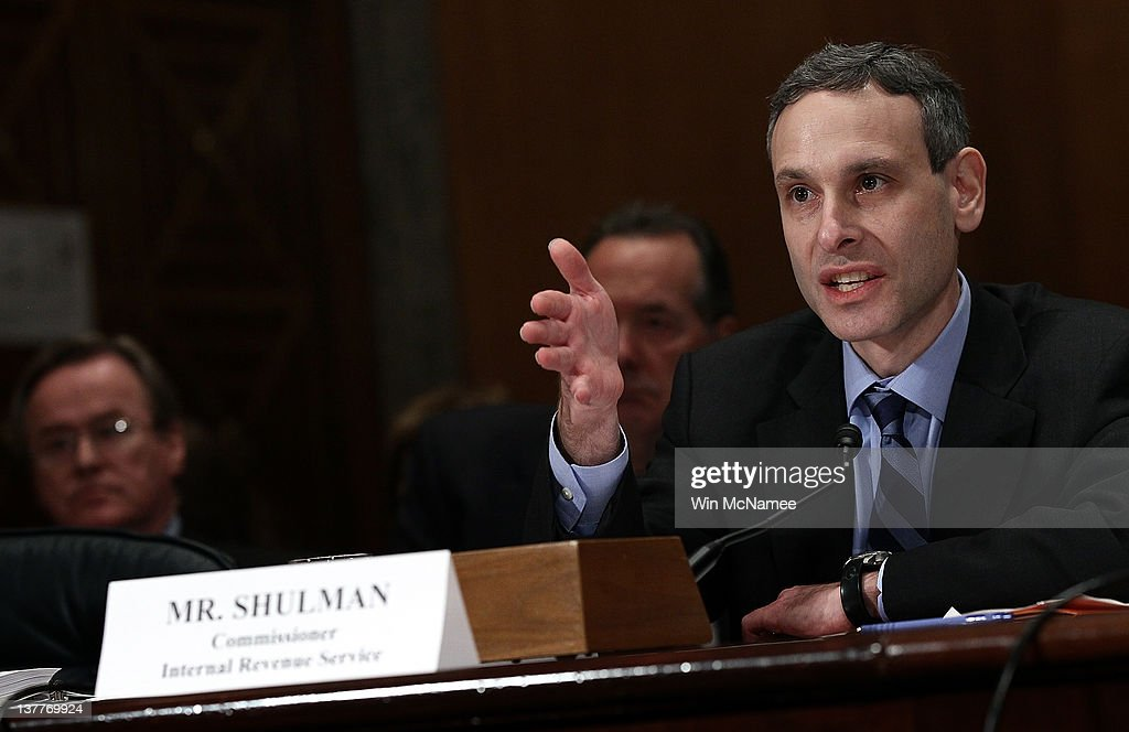 Internal Revenue Service Commissioner Douglas Shulman testifies before the Senate Homeland Security and Governmental Affairs Committee January 26...
