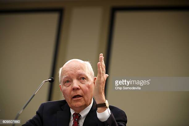 Internal Revenue Service Commissioner John Koskinen testifies before the House Judiciary Committee in the Rayburn House Office Building on Capitol...