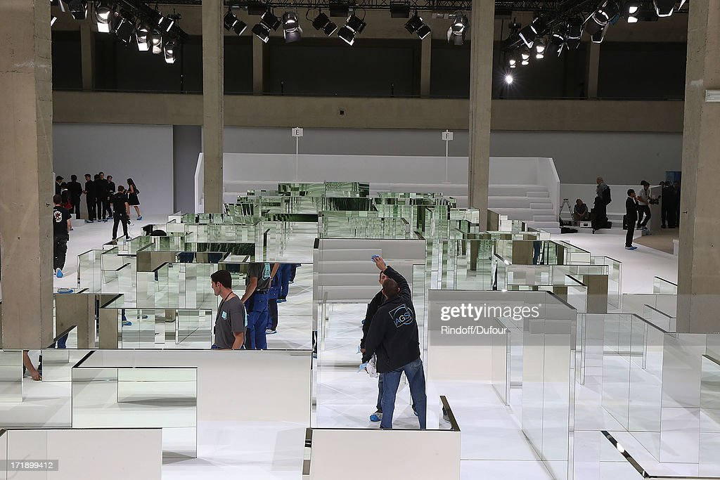 Internal view of Dior Homme Menswear Spring/Summer 2014 show as part of Paris Fashion Week on June 29, 2013 in Paris, France.