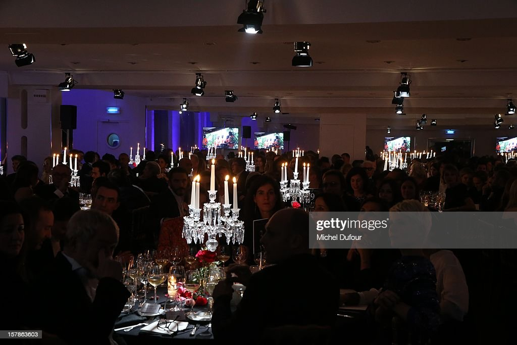 Internal view of the Babeth Djian Dinner For Rwanda To The Benefit Of A.E.M. on December 6, 2012 in Paris, France.