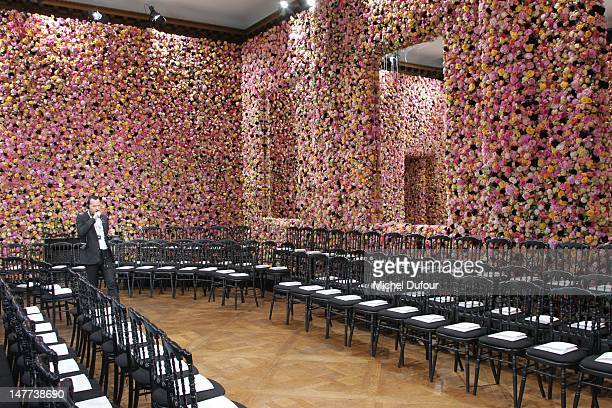 Internal view of the Christian Dior HauteCouture Show as part of Paris Fashion Week Fall / Winter 2013 on July 2 2012 in Paris France