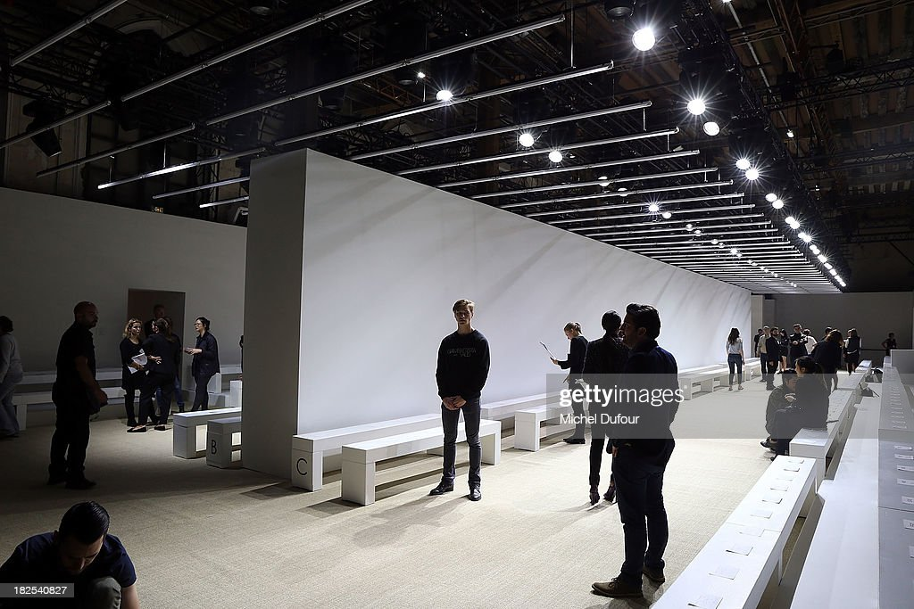 Internal view of the Giambattista Valli show as part of the Paris Fashion Week Womenswear Spring/Summer 2014 on September 30, 2013 in Paris, France.