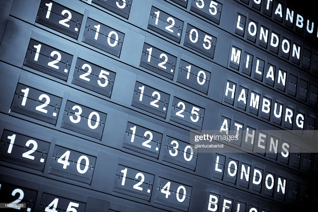 Flight information board