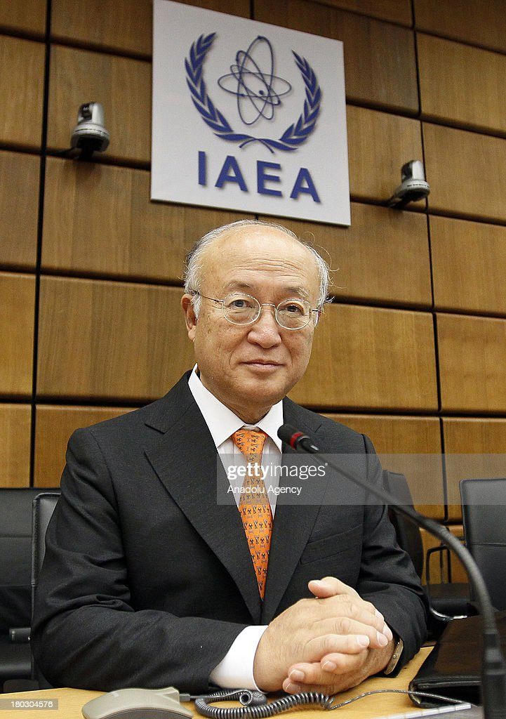 International Atomic Energy Agency (IAEA) Director General Yukiya Amano attends a meeting of the IAEA Board of Governors on September 11, 2013 in Vienna, Austria.