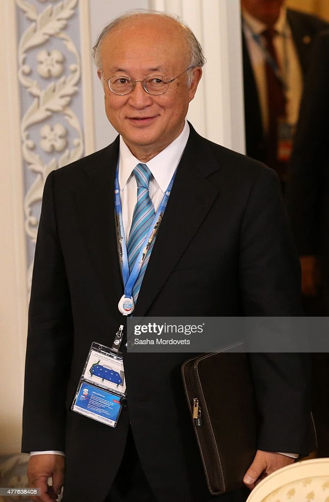 International Atomic Energy Agency Director General <a gi-track='captionPersonalityLinkClicked' href=/galleries/search?phrase=Yukiya+Amano&family=editorial&specificpeople=771232 ng-click='$event.stopPropagation()'>Yukiya Amano</a> arrives for the St. Petersburg International Economic Forum in the Konstantin Palace June,18, 2015 in Saint Petersburg, Russia. Though largely boycotted last year by American and some European company chiefs after Russia annexed Crimea and for its support of rebels in eastern Ukraine, 12 chief executives from United States companies are making the trip this year, according to Russian government officials quoted in published reports.