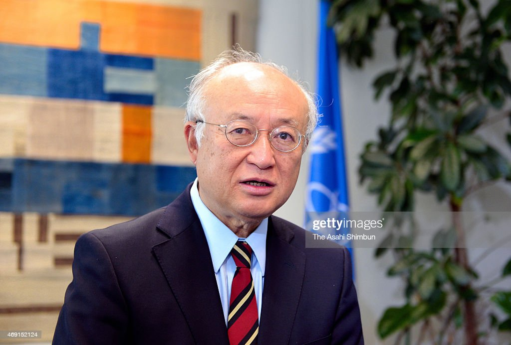 International Atomic Energy Agency (IAEA) Director General <a gi-track='captionPersonalityLinkClicked' href=/galleries/search?phrase=Yukiya+Amano&family=editorial&specificpeople=771232 ng-click='$event.stopPropagation()'>Yukiya Amano</a> speaks during the Asahi Shimbun interview at the IAEA headquarters on April 9, 2015 in Wien, Austria.