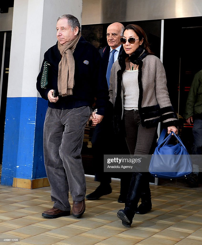 International Automobile Federation (FIA) President Jean Todt and his wife Michelle Yeoh visit Micheal Schumacher at Grenoble University Hospital Centre on December 31, 2013 following his skiing accident on Sunday in Grenoble, France.