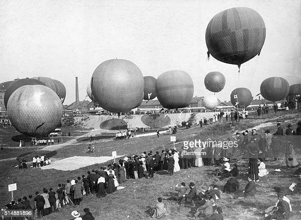 International Balloon competition at Schnargendorf Berlin Photo 1908