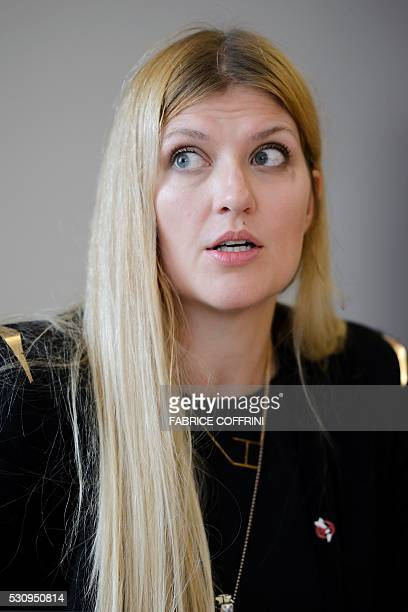 International campaign to abolish Nuclear Weapons Executive Director Beatrice Fihn attends a press conference on nuclear disarmament at the United...