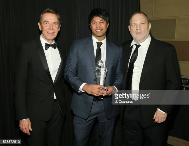 International Centre For Missing Exploited Children's Gala cochair Jeff Koons author Saroo Brierly and founder of the Weinstein Company Harvey...
