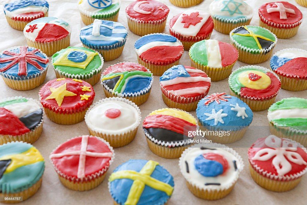 International cookie selection : Stock Photo