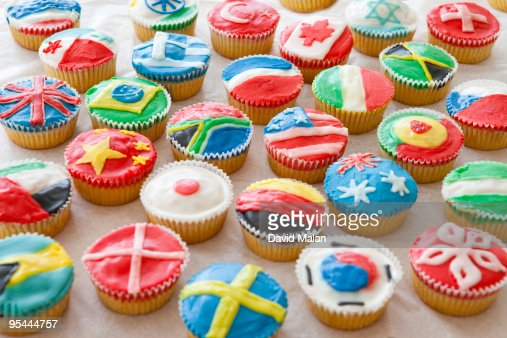 International cookie selection : Stock Photo
