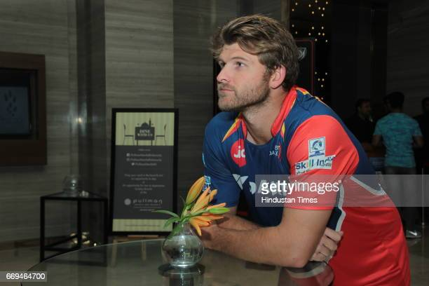 International Cricketer Corey Anderson at a party hosted by Daikin to celebrate the three years of togetherness with Delhi Daredevils team at Hotel...