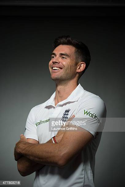 International cricketer James Anderson is photographed for Cricketer magazine on May 13 2015 in London England