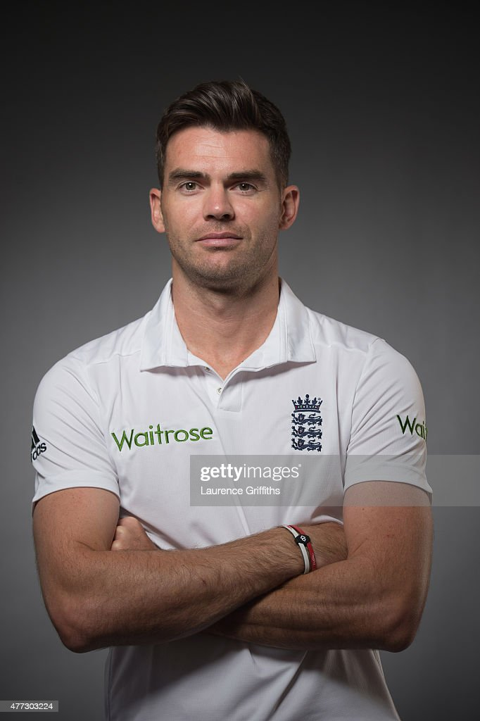 International cricketer <a gi-track='captionPersonalityLinkClicked' href=/galleries/search?phrase=James+Anderson+-+Cricket+Player&family=editorial&specificpeople=6920305 ng-click='$event.stopPropagation()'>James Anderson</a> is photographed for Cricketer magazine on May 13, 2015 in London, England.