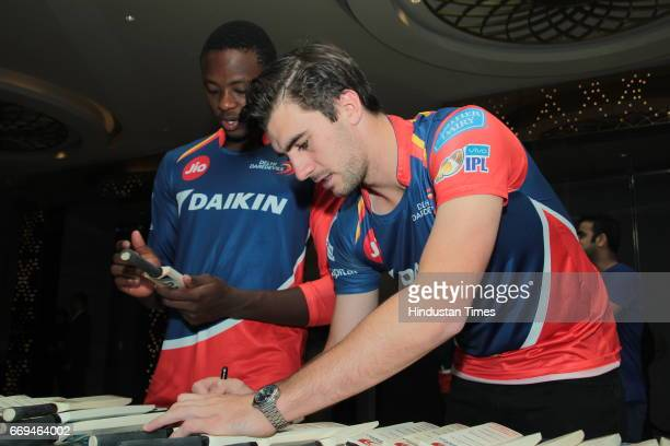 International Cricketers Kagiso Rabada and Pat Cummins at a party hosted by Daikin to celebrate the three years of togetherness with Delhi Daredevils...
