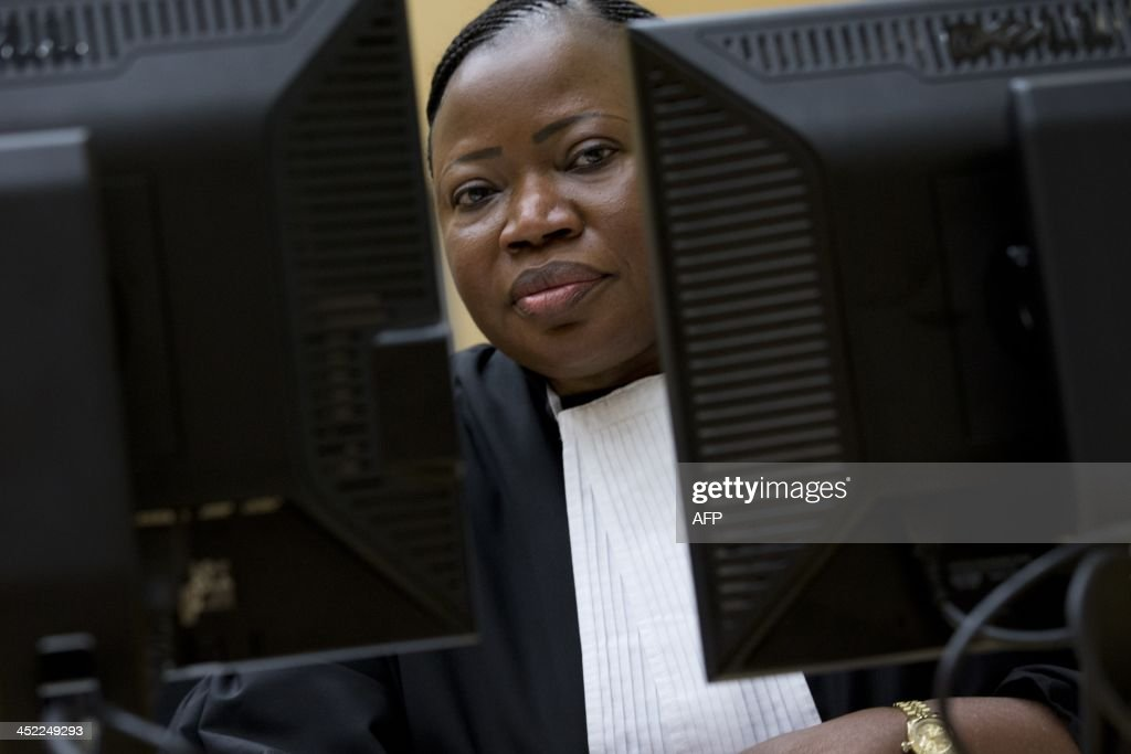 International Criminal Court (ICC) Chief Prosecutor <a gi-track='captionPersonalityLinkClicked' href=/galleries/search?phrase=Fatou+Bensouda&family=editorial&specificpeople=802492 ng-click='$event.stopPropagation()'>Fatou Bensouda</a> waits on November 27, 2013 for the start of the trial of Congolese Vice President Jean-Pierre Bemba and two close associates at the ICC in The Hague on suspicion of tampering with witnesses in his war crimes trial. Bemba faces three war crimes counts and two counts of crimes against humanity before the ICC in a case related to widespread atrocities committed by his DR Congo-based Movement for the Liberation of Congo (MLC) troops in the Central African Republic between October 2002 and March 2003. AFP PHOTO / POOL / PETER DEJONG - netherlands out -