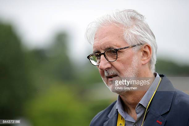 LY 03 LY 03 International Cycling Union president Brian Cookson speaks with the media prior to stage two of the 2016 Le Tour de France a 183km stage...