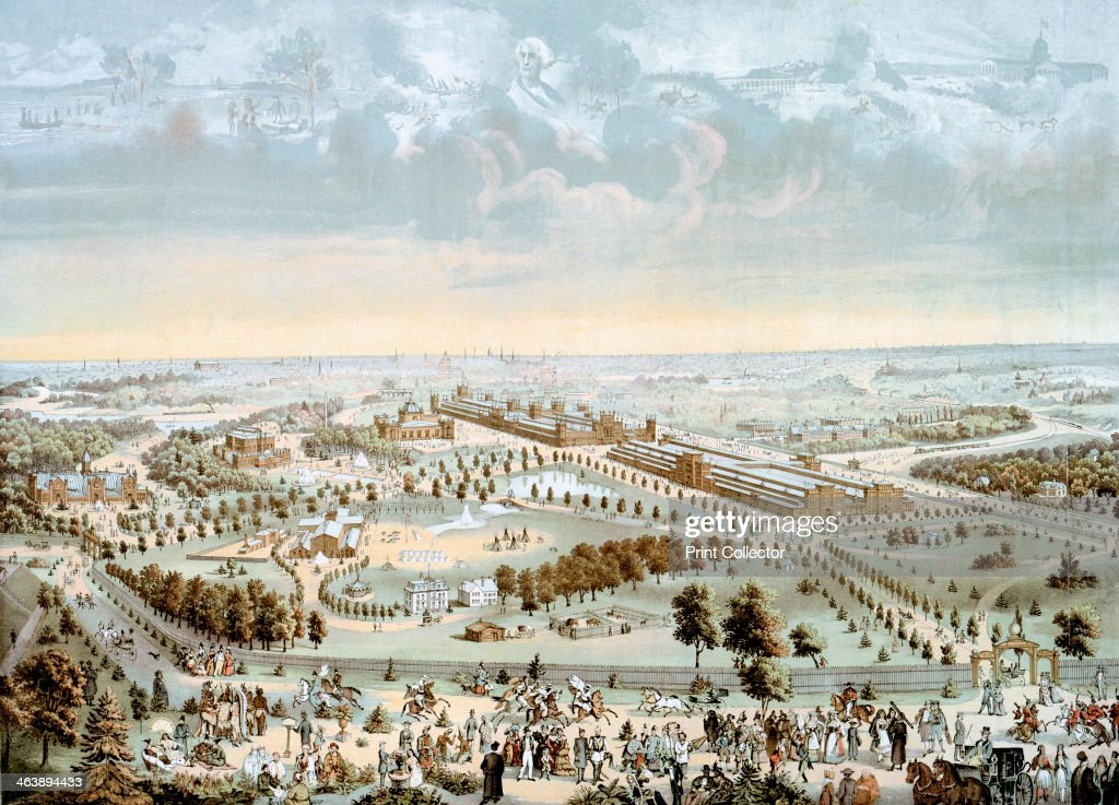 International Exposition of 1876 held at Philadelphia Pennslvania USA in 1876 the Centennial of American Independence The large buildings in the...