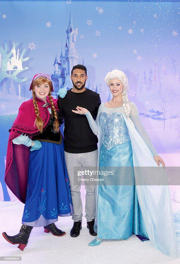 International football player, Gael Clichy attends the Christmas season launch at Disneyland Paris on November 15, 2014 in Paris, France.