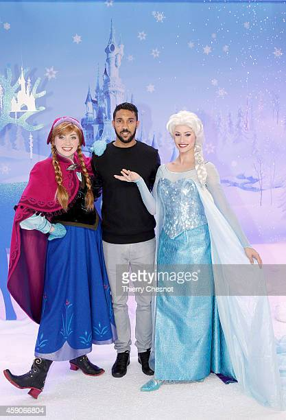 International football player Gael Clichy attends the Christmas season launch at Disneyland Paris on November 15 2014 in Paris France