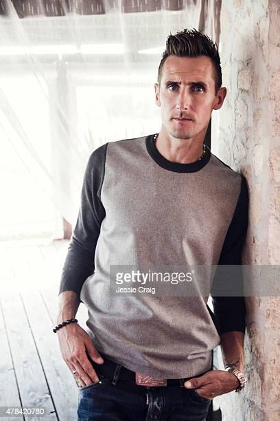 International footballer Miroslav Klose is photographed for GQ magazine on September 30 2014 in Rome Italy