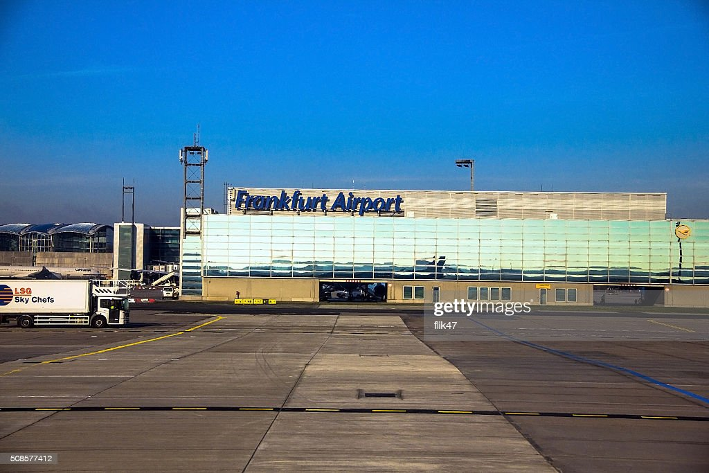 International Frankfurt Airport, the busiest airport in Germany : Stock Photo