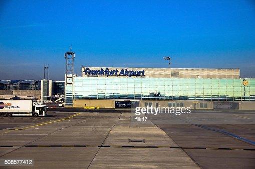 De l'aéroport International de Francfort, l'aéroport le plus fréquenté d'Allemagne : Photo
