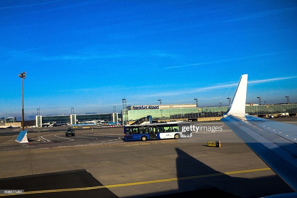 International Frankfurt Airport, the busiest airport in Germany : Bildbanksbilder