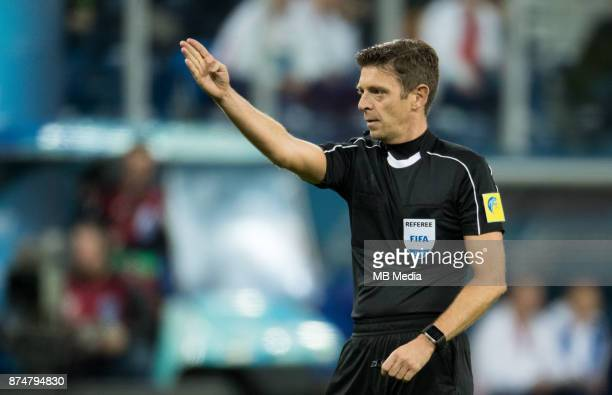 SPAIN International friendly football match at Saint Petersburg Stadium The game ended in a 33 draw Referee Gianluca Rocchi