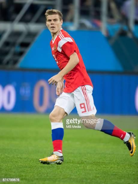 SPAIN International friendly football match at Saint Petersburg Stadium The game ended in a 33 draw Russia's Aleksander Kokorin