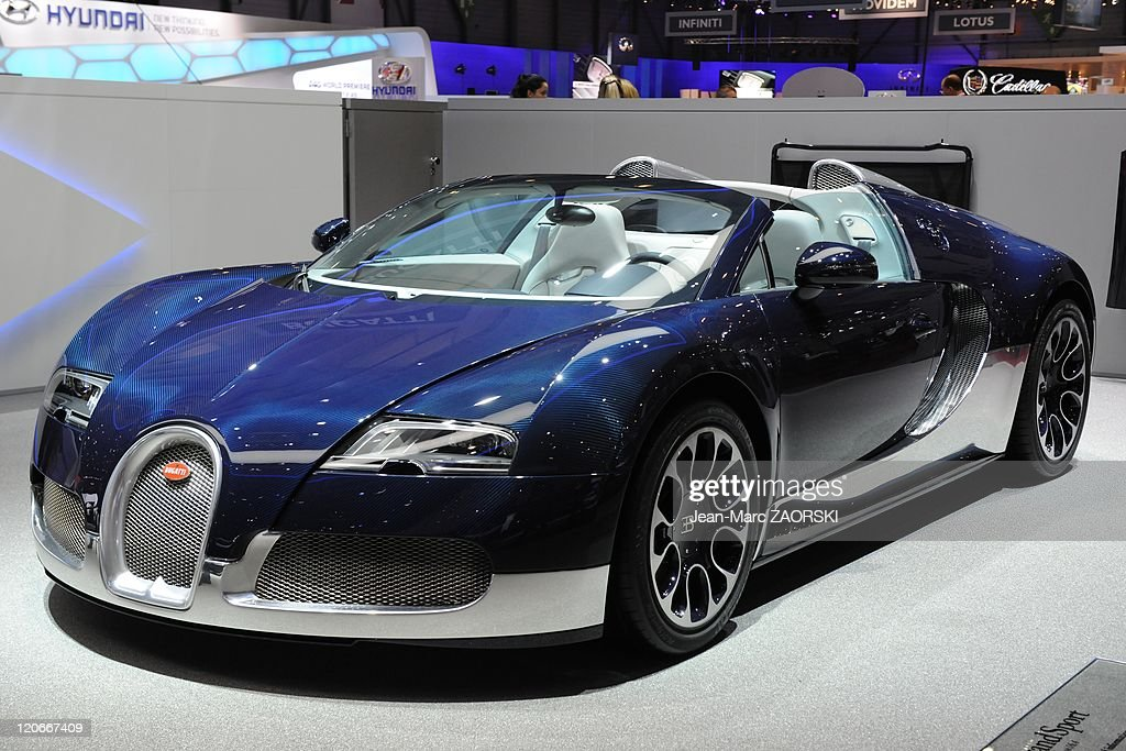 International Geneva Motor Show 2011 in Geneva Switzerland on March 01 2011 A view of the Bugatti Veyron 164 Grand Sport shown on the stand Bugatti...