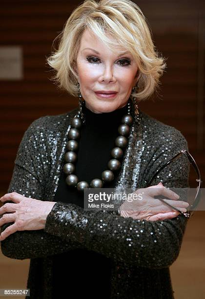 International Guest Joan Rivers attends the 2009 Mardi Gras VIP party at the Zeta Bar of the Hilton Hotel on March 5 2009 in Sydney Australia