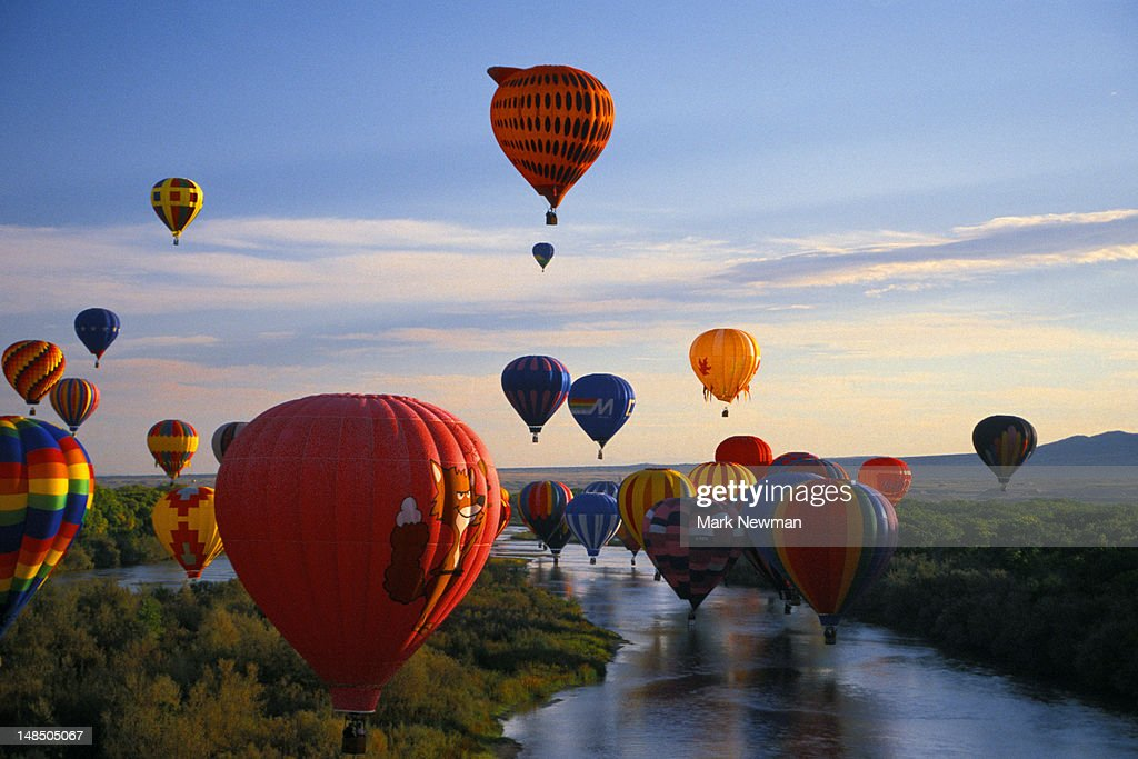 International hot air balloon fiesta. : Foto de stock
