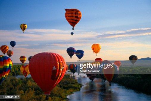 International hot air balloon fiesta. : Stock Photo