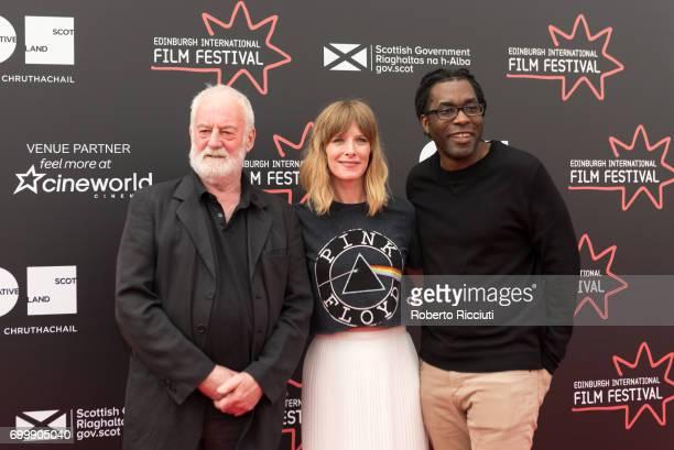 International Jurors Bernard Hill Shauna Macdonald and James Faust attend a photocall during the 71st Edinburgh International Film Festival at...