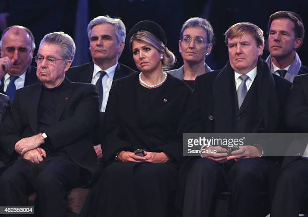 International leaders including Austrian President Heinz Fischer Dutch Queen Maxima Dutch King WillemAlexander and Dutch Prime Minister Mark Rutte...