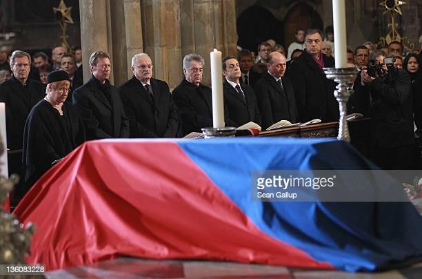 International leaders including German President Christian Wulff an unnamed woman Grand Duke Henri of Luxembourg Slovak President Ivan Gasparovic...