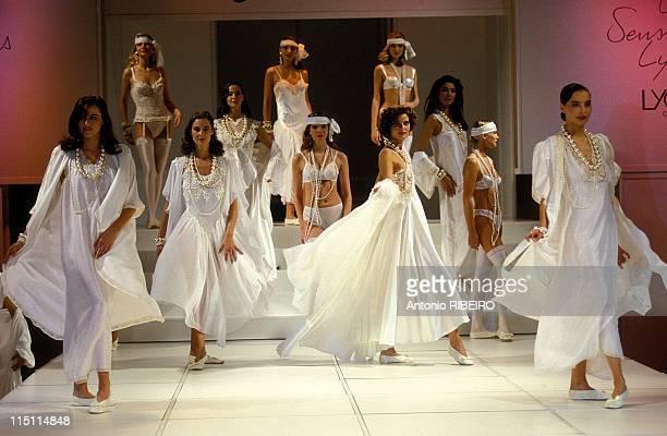 International lingerie fair in Paris France on February 02 1992