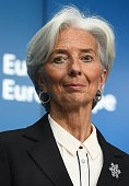 International Monetary Fund chief Christine Lagarde gives a press conference on February 16 2015 at the end of an Eurogroup finance ministers meeting...
