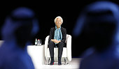 International Monetary Fund chief Christine Lagarde speaks on the opening day of the Global Women's Forum on February 23 in Dubai The world economy...