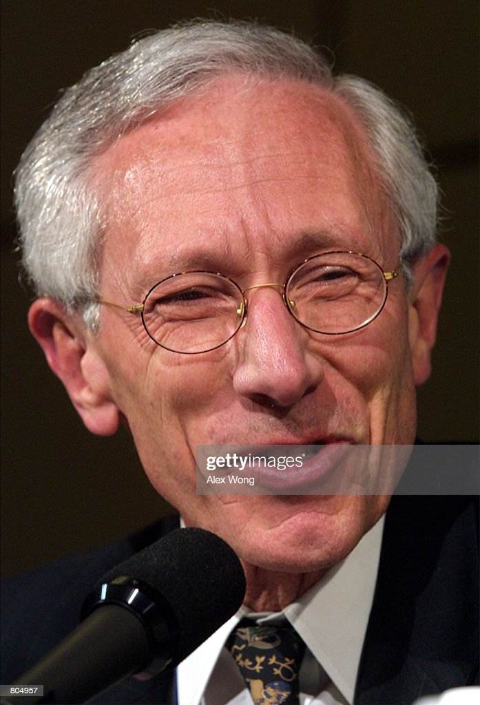 International Monetary Fund (IMF) First Deputy Managing Director Stanley Fischer speaks April 29, 2001 during a press conference in Washington, D. C. The World Bank and the IMF are holding their annual Spring meeting this weekend.