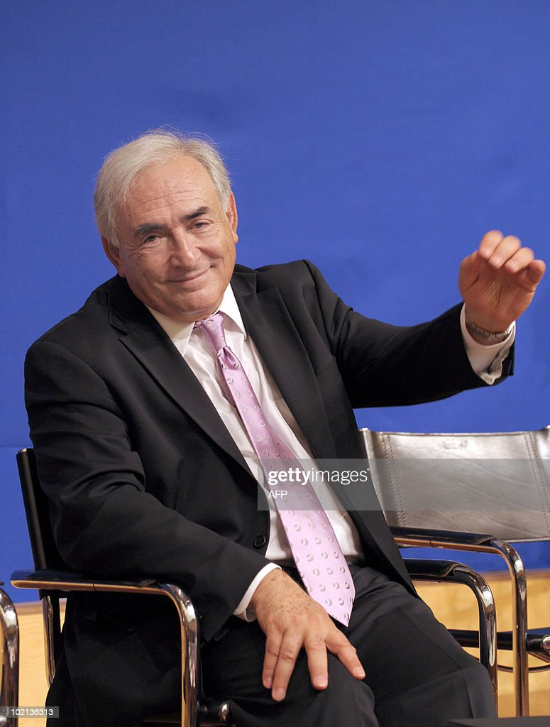 International Monetary Fund (IMF) head Dominique Strauss-Kahn gestures as he listens to a speaker on June 16, 2010 in Paris at the symposium 'Europe/ China: Facing our common challenges' organised in Paris by the French directorate-general of the Treasury.